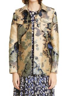Women's Adam Lippes Camo Jacquard Safari Jacket