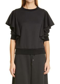 Women's Adam Lippes Flounce Jersey Sweatshirt