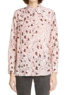 Women's Adam Lippes Leopard Print High/low Shirt