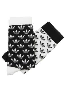 Adidas 2 Pack Logo Crew Socks