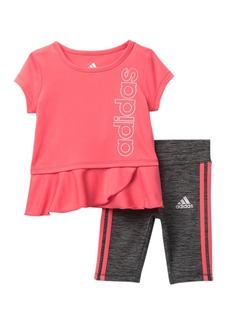 Adidas 3 Stripe Capri Tight Set (Baby Girls)
