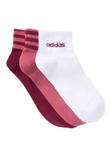 Adidas 3 Stripe Low Cut Socks - Pack of 3
