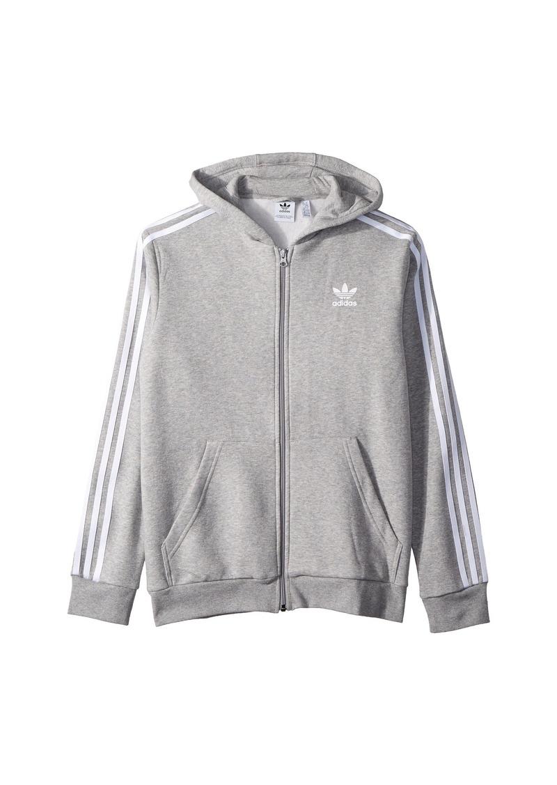 Adidas 3-Stripe Trefoil Hoodie (Little Kids/Big Kids)