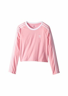 Adidas 3-Stripes Crop Long Sleeve (Little Kids/Big Kids)