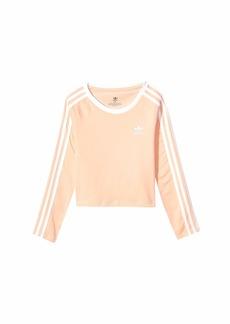 Adidas 3-Stripes Crop Long Sleeve (Little Kids/Big Kids)