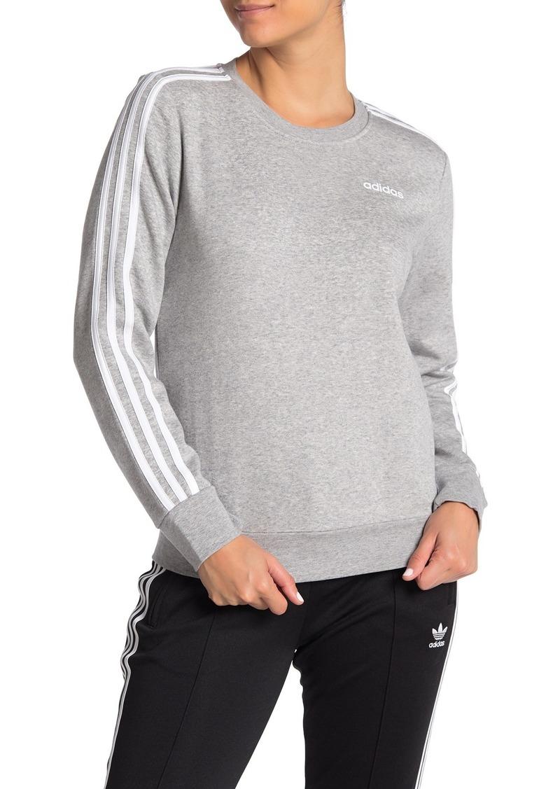 Adidas 3-Stripes Panel Crew Neck Sweatshirt