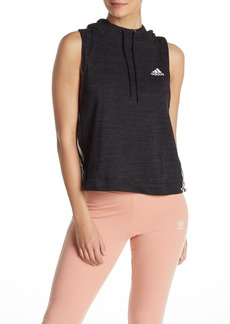 Adidas 3-Stripes Sleeveless Hoodie