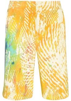Adidas tie-dye track shorts