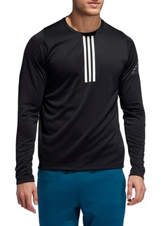 adidas 3-Stripe Climalite® Long Sleeve Performance T-Shirt (Regular Retail Price: $45)