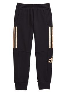 adidas 3-Stripe Fleece Jogger Pants (Little Boys)