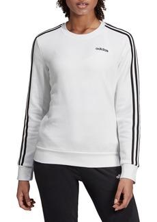Adidas 3-Stripes Cotton-Blend Fleece Sweatshirt