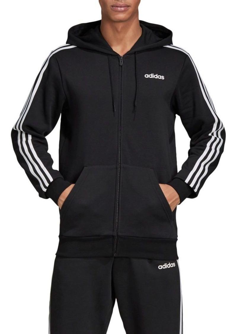 Adidas 3-Stripes Fleece Zip Hoodie