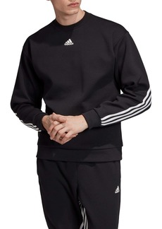 adidas 3-Stripes Double Knit Crewneck Sweatshirt