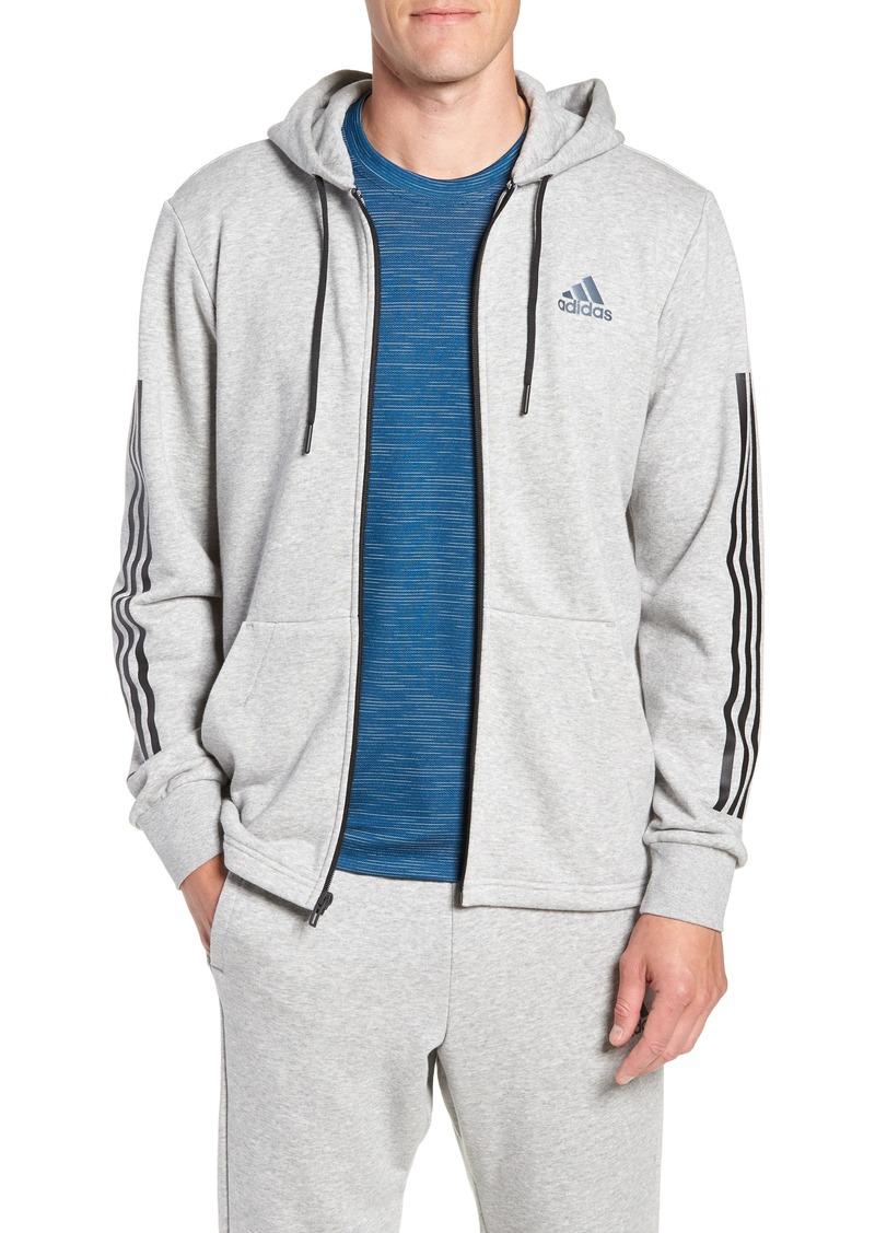 adidas 3-Stripes Full Zip Hoodie
