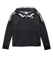 adidas 3-Stripes Hooded Jacket (Big Girls)