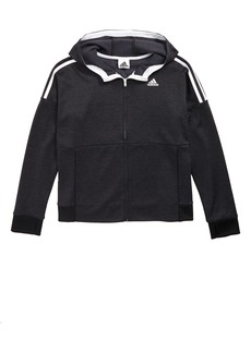 adidas 3-Stripes Hooded Jacket (Big Girls)