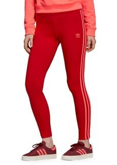 Adidas 3-Stripes Stretch-Cotton Leggings
