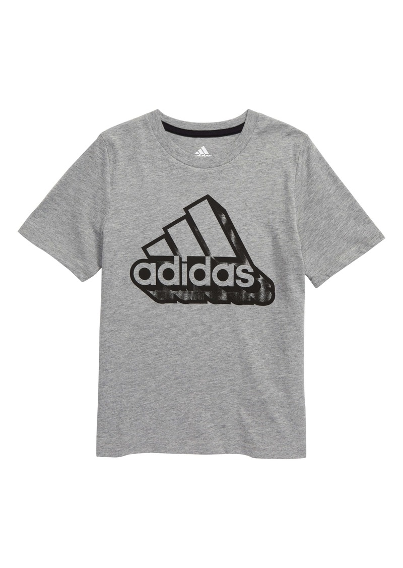adidas 3D Graffiti Graphic Tee (Toddler & Little Boy)