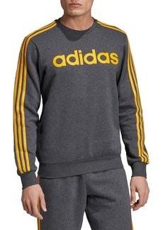 Adidas 3-Stripes Fleece Pullover Sweatshirt