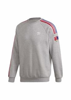 adidas Adicolor 3D Trefoil 3-Stripes Crewneck Sweatshirt
