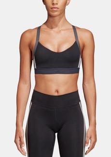 adidas Women's All Me 3-Stripe Light-Support Sports Bra