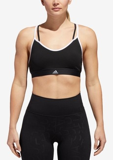 adidas All Me ClimaLite Strappy Low-Impact Compression Sports Bra