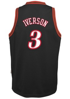 adidas Allen Iverson Philadelphia 76ers Retired Player Swingman Jersey, Big Boys (8-20)