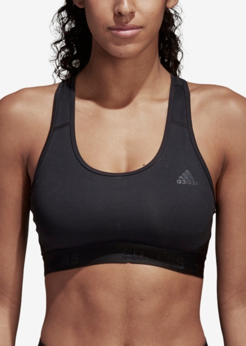 adidas Women's AlphaSkin Racerback Medium-Impact Sports Bra