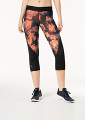 adidas Alphaskin Printed Mesh-Inset Cropped Leggings