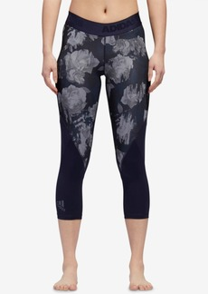 adidas Alphaskin Printed Mesh-Inset Cropped Leggings