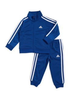 Adidas Baby Boy's and Little Boy's Two-Piece Tricot Logo Jacket and Pants Set