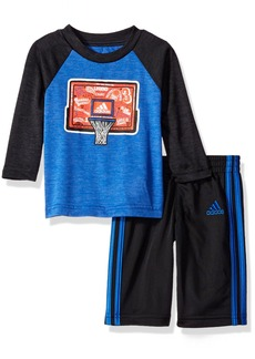 adidas Baby Boys' Long Sleeve Tee and Pant Set