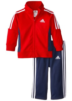 adidas Baby Boys' Tricot Jacket and Pant Set  Red