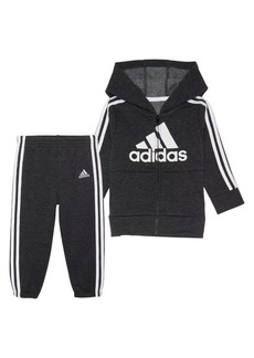 Adidas Baby Boy's 2-Piece Zip-Front Fleece Jacket & Joggers Set