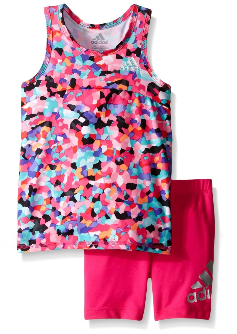 adidas Baby Girls' Top and Short Set
