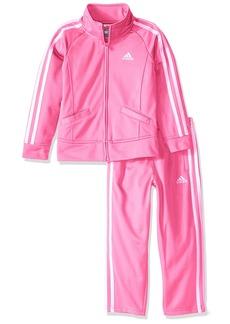 adidas Baby Girls' Tricot Zip Jacket and Pant Set