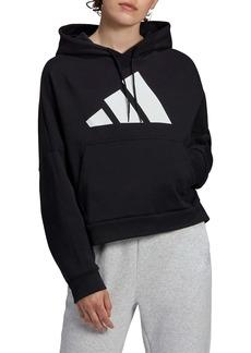 adidas Back Zip Logo Hoodie