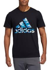 Adidas Badge Of Sport Logo Graphic Cotton Jersey Tee