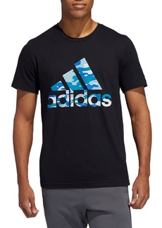 Adidas Badge Of Sport Logo Graphic Cotton Jersey Tee