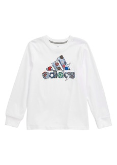 adidas Badge of Sport Long Sleeve T-Shirt (Toddler Boys & Little Boys)