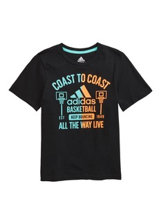 adidas Basketball Logo Graphic Tee (Toddler & Little Boy)