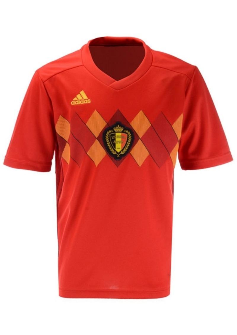 adidas Belgium Soccer National Team Home Stadium Jersey, Big Boys (8-20)