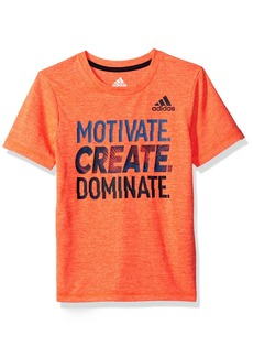 Adidas Boys' Big Short Sleeve Moisture-Wicking Graphic T-Shirt