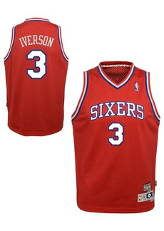 adidas Big Boys Allen Iverson Philadelphia 76ers Retired Player Swingman Jersey