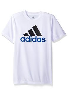 adidas Boys' Big Short Sleeve Logo Tee Shirt  M (10/12)