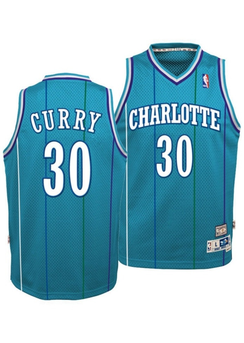 adidas Big Boys Dell Curry Charlotte Hornets Retired Player Swingman Jersey