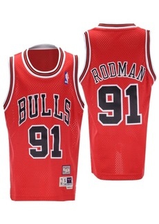 adidas Big Boys Dennis Rodman Chicago Bulls Retired Player Swingman Jersey