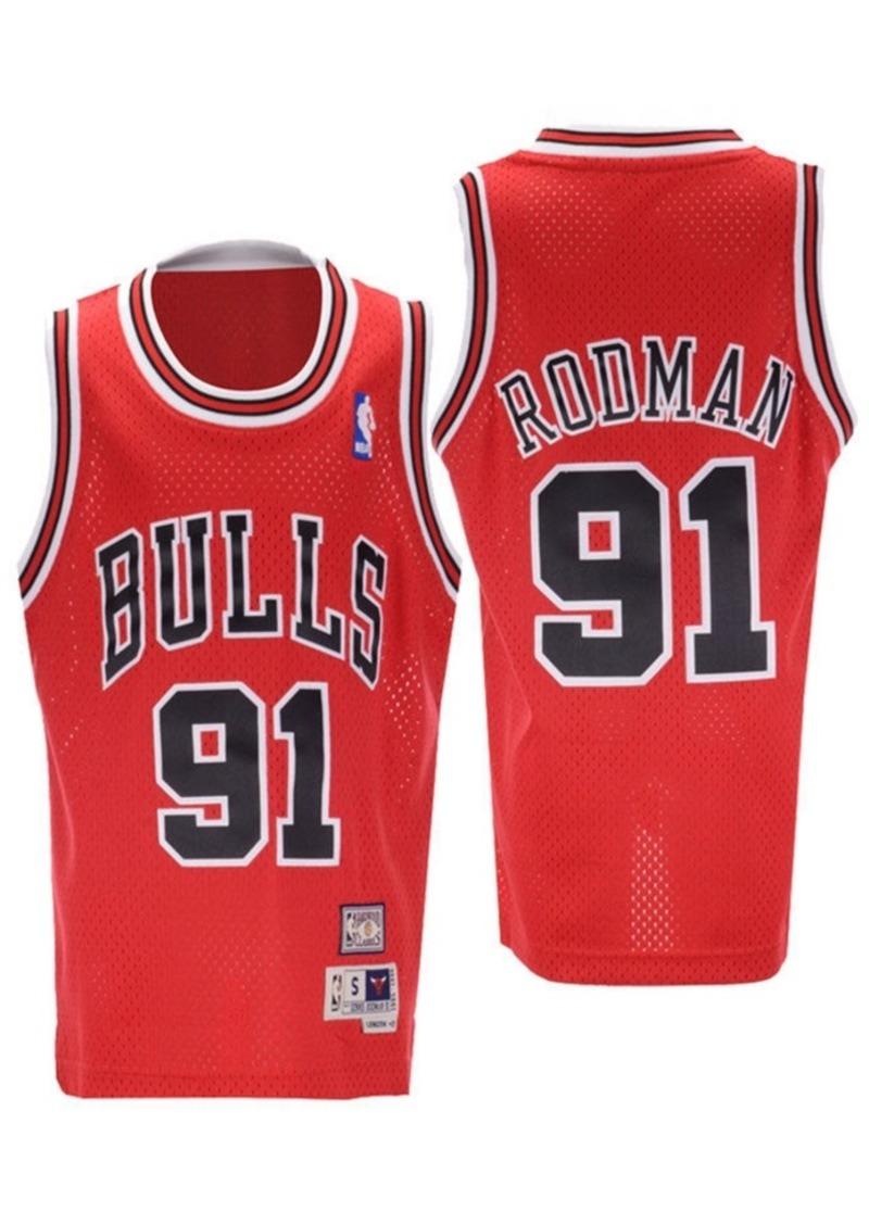 adidas Big Boys Dennis Rodman Chicago Bulls Retired Player Swingman Jersey