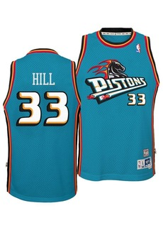 adidas Big Boys Grant Hill Detroit Pistons Retired Player Swingman Jersey