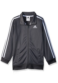 adidas Big Boys' Iconic Tricot Jacket Dark Grey